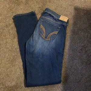 Hollister skinny jeans with holes